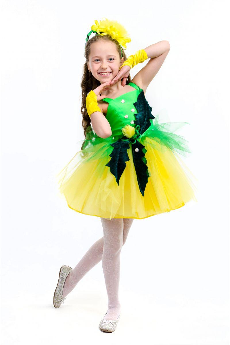 Масочка - Одуванчик «Золотой» карнавальный костюм для девочки / фото №1574