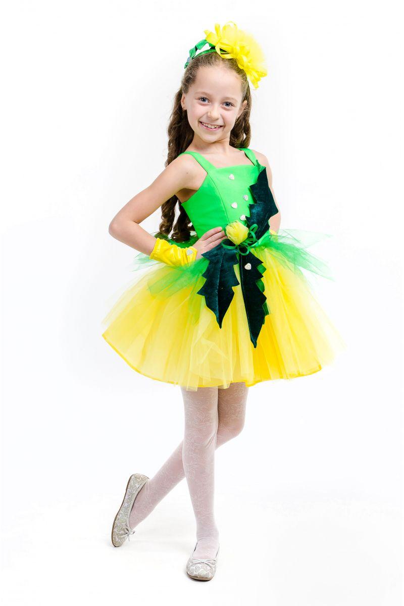 Масочка - Одуванчик «Золотой» карнавальный костюм для девочки / фото №1575