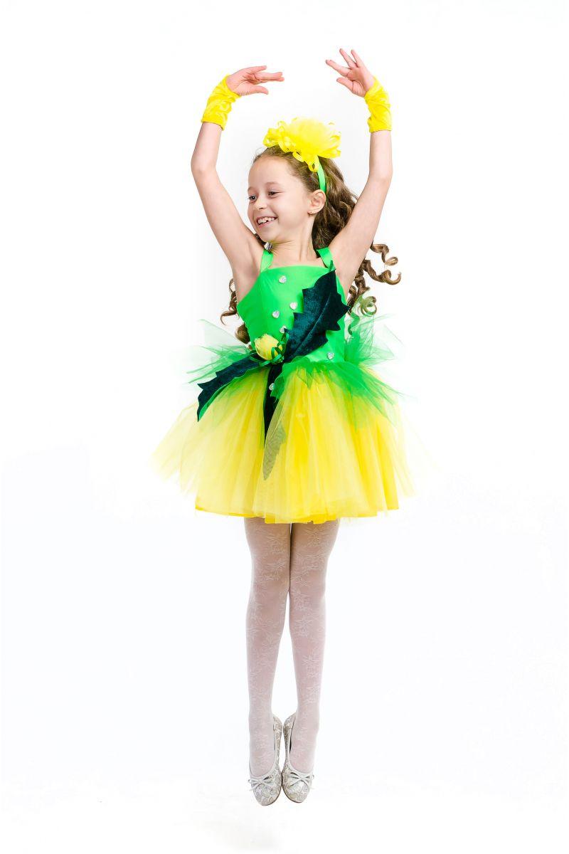 Масочка - Одуванчик «Золотой» карнавальный костюм для девочки / фото №1576