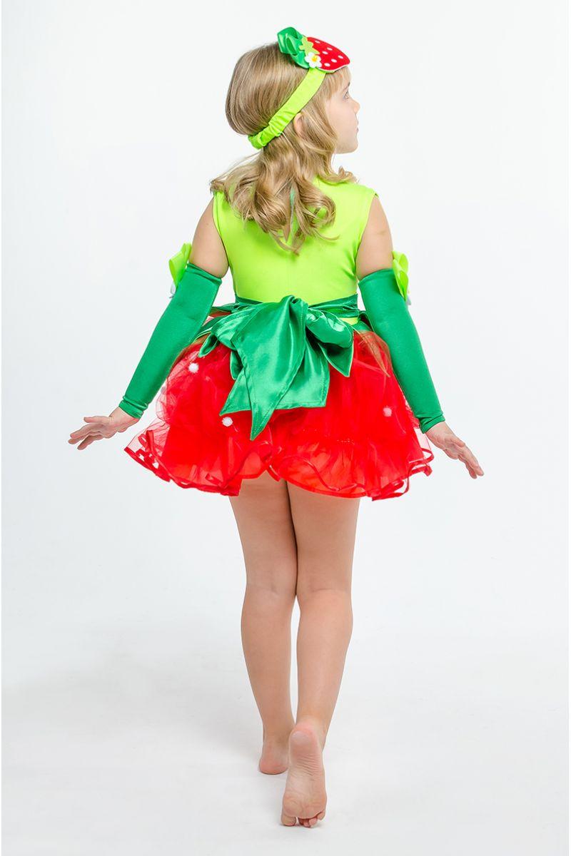 Масочка - «Клубничка-земляничка» карнавальный костюм для девочки / фото №1583