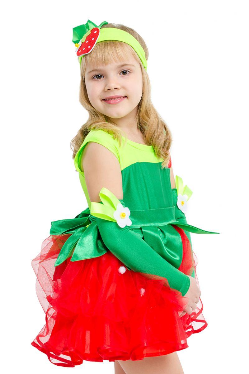 Масочка - «Клубничка-земляничка» карнавальный костюм для девочки / фото №1585