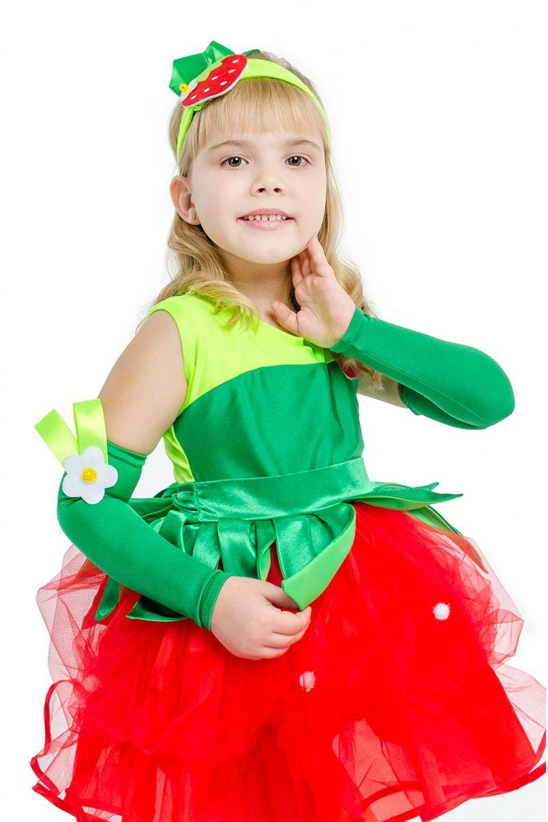 Масочка - «Клубничка-земляничка» карнавальный костюм для девочки / фото №1586