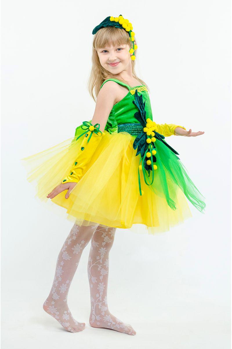 Масочка - Мимоза «Солнечная» карнавальный костюм для девочки / фото №1592