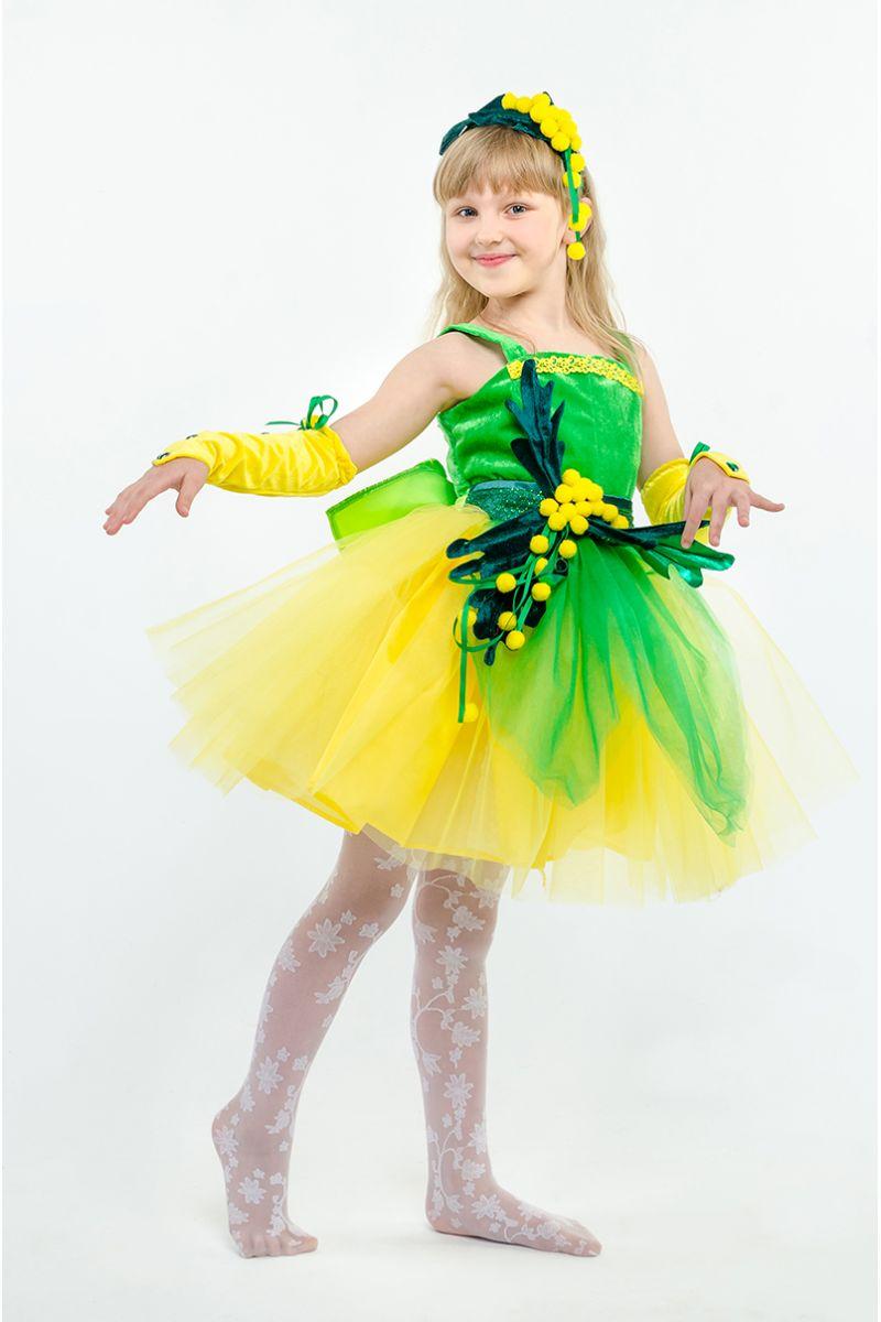 Масочка - Мимоза «Солнечная» карнавальный костюм для девочки / фото №1593