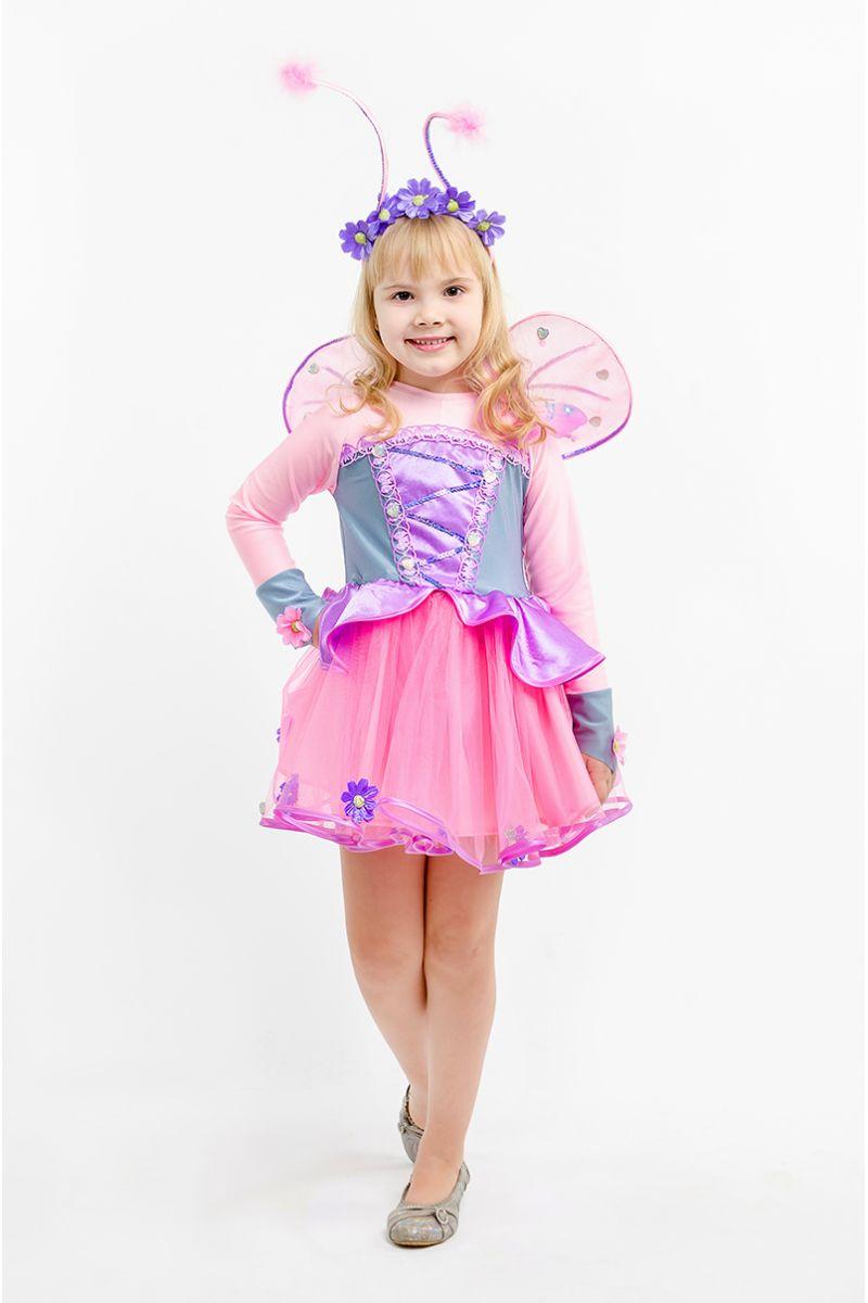 Бабочка «Розовая» карнавальный костюм для девочки