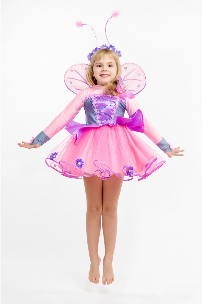 Масочка - Бабочка «Розовая» карнавальный костюм для девочки / фото №1613