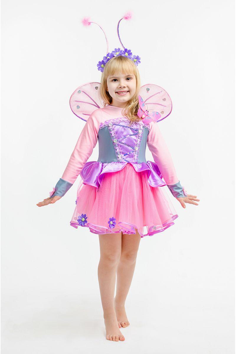 Масочка - Бабочка «Розовая» карнавальный костюм для девочки / фото №1616