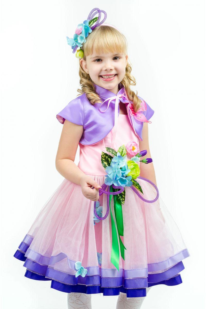 Масочка - Весна «Розовая дымка» карнавальный костюм для девочки / фото №1635