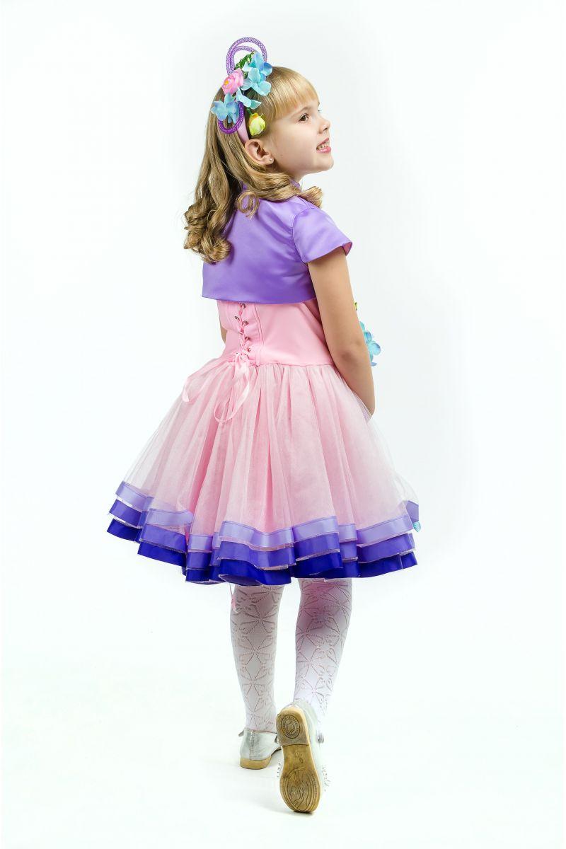 Масочка - Весна «Розовая дымка» карнавальный костюм для девочки / фото №1637