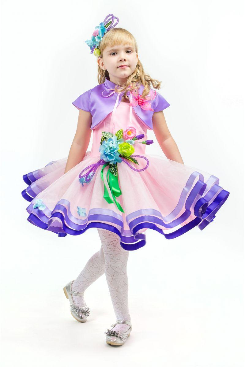 Масочка - Весна «Розовая дымка» карнавальный костюм для девочки / фото №1638