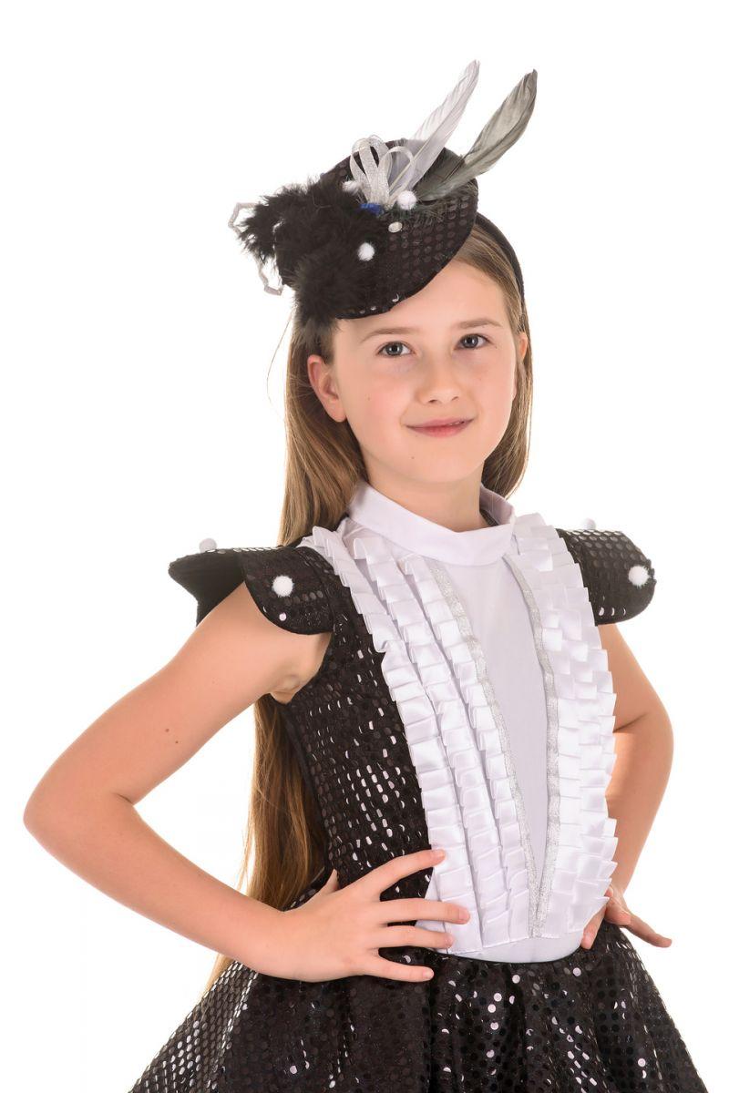Масочка - «Сорока-белобока» карнавальный костюм для девочки / фото №1646