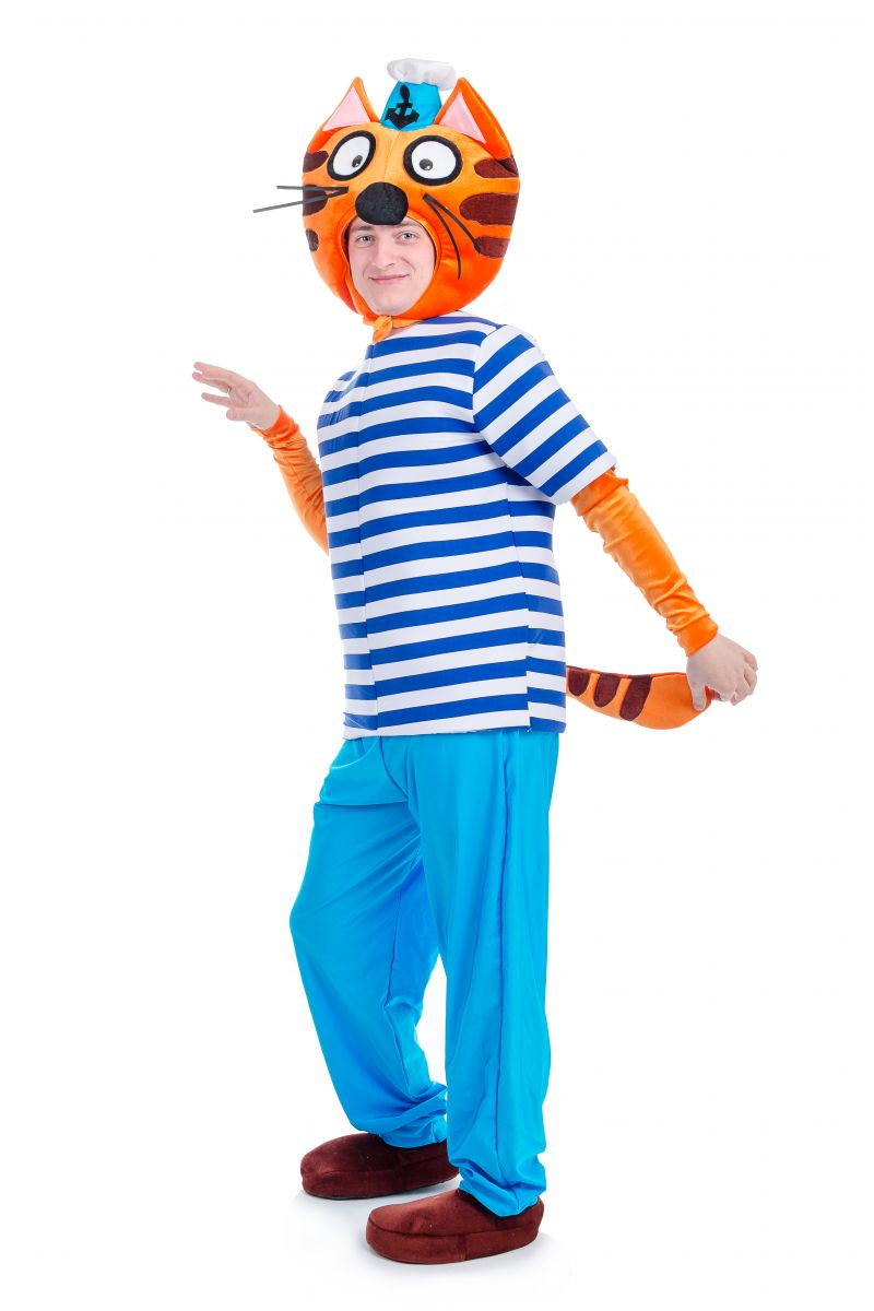 Масочка - Кот «Коржик» карнавальный костюм для взрослых / фото №1700