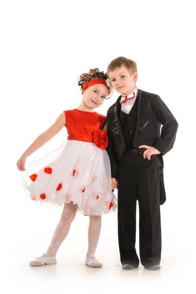 Черный фрак 90-100 Нарядный костюм для мальчика