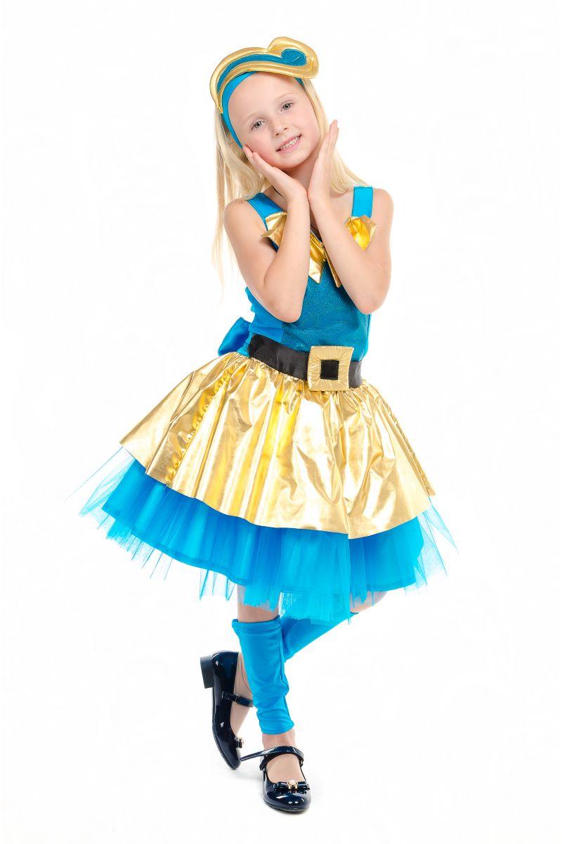 Масочка - Кукла LOL «Леди Голд Luxe» карнавальный костюм для девочки / фото №1841