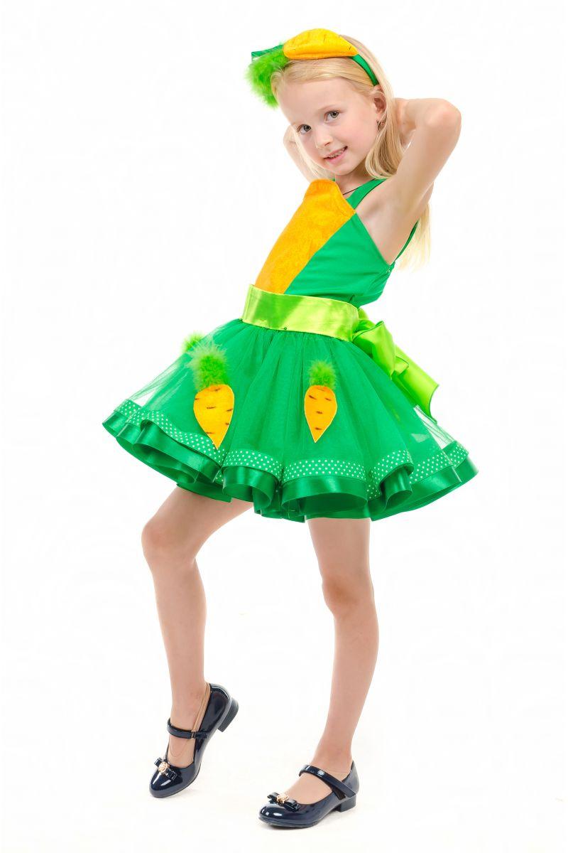 Масочка - Морковка «Модница» карнавальный костюм для девочки / фото №1857