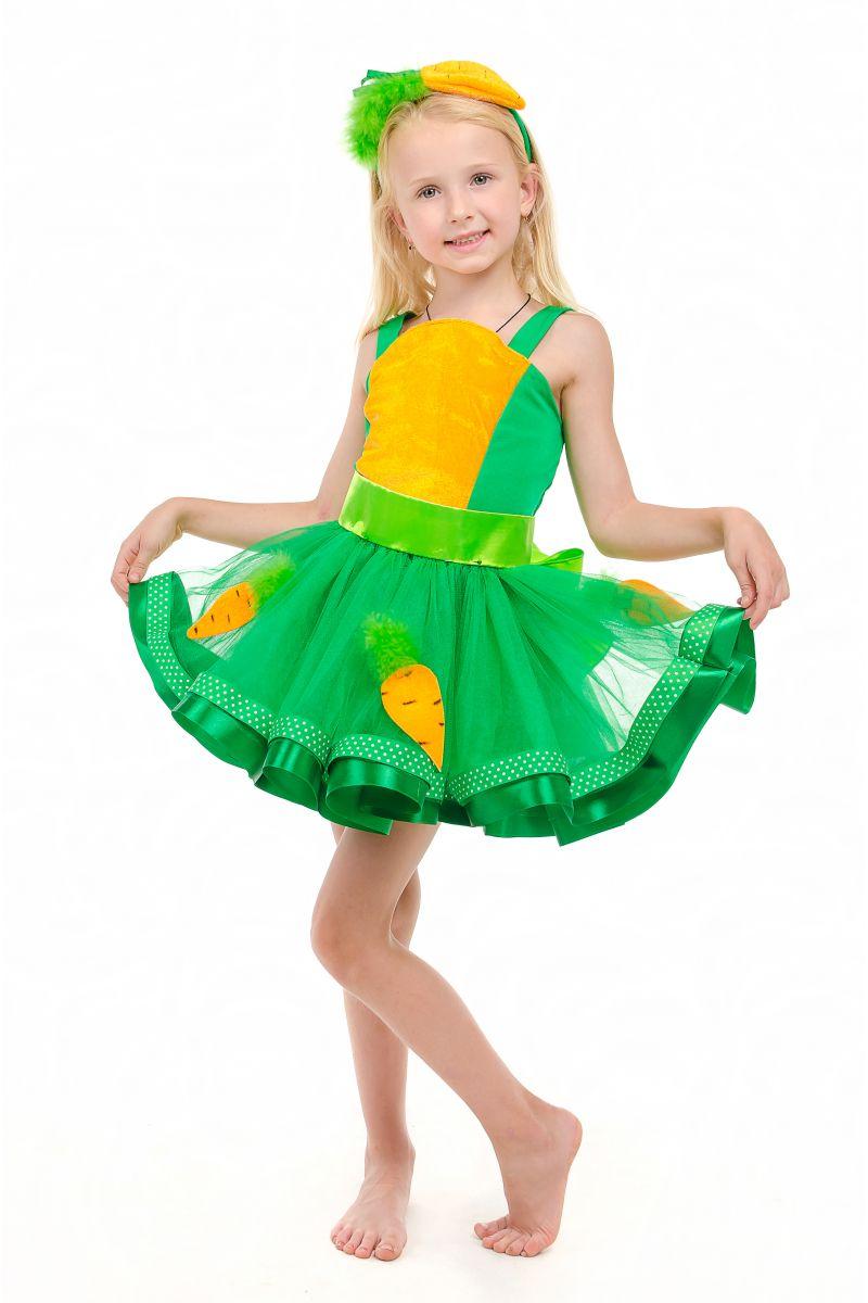 Масочка - Морковка «Модница» карнавальный костюм для девочки / фото №1858