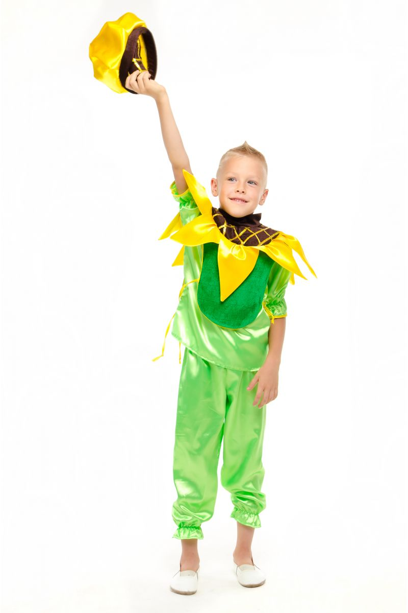 Масочка - Подсолнух «Солнечный» карнавальный костюм для мальчика / фото №1865