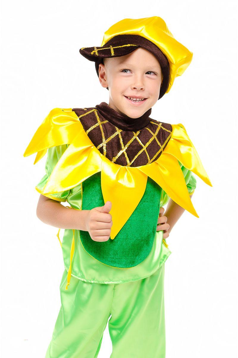 Масочка - Подсолнух «Солнечный» карнавальный костюм для мальчика / фото №1866