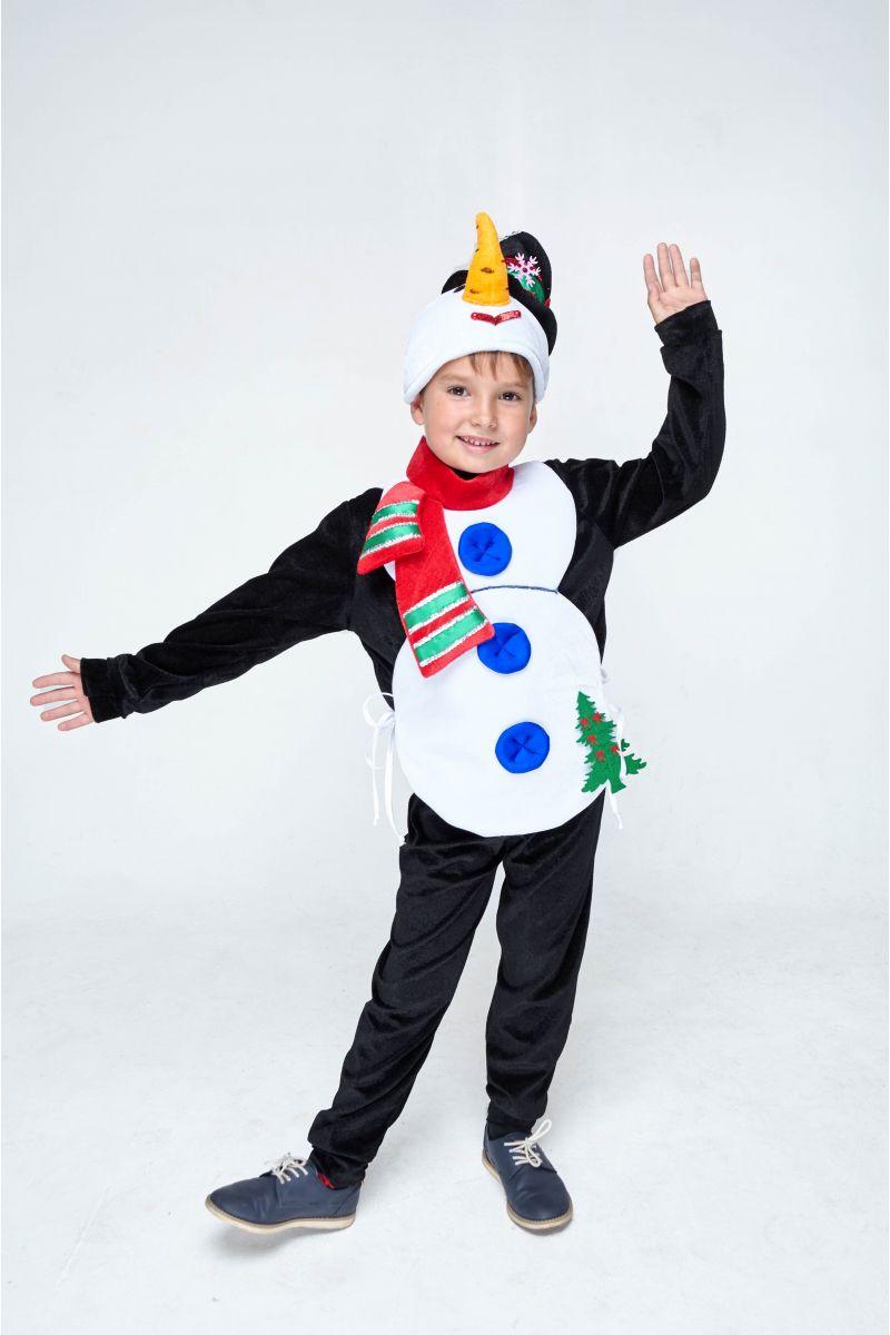 Масочка - «Снеговик» карнавальный костюм для мальчика / фото №1986
