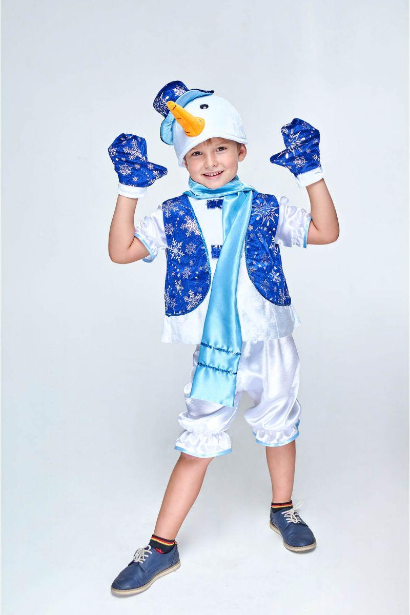 Масочка - «Снеговик в жилете» карнавальный костюм для мальчика / фото №1989