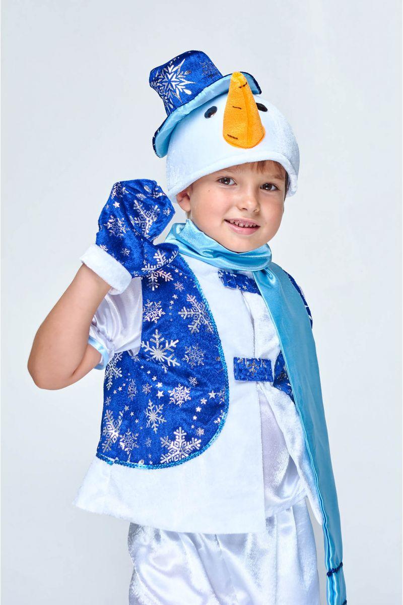 Масочка - «Снеговик в жилете» карнавальный костюм для мальчика / фото №1990