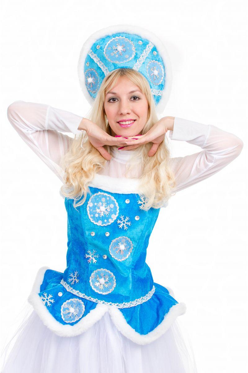Масочка - «Снегурочка» карнавальный костюм для взрослых / фото №2140