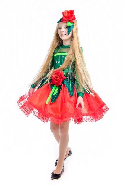 «Розочка красная» карнавальный костюм для девочки