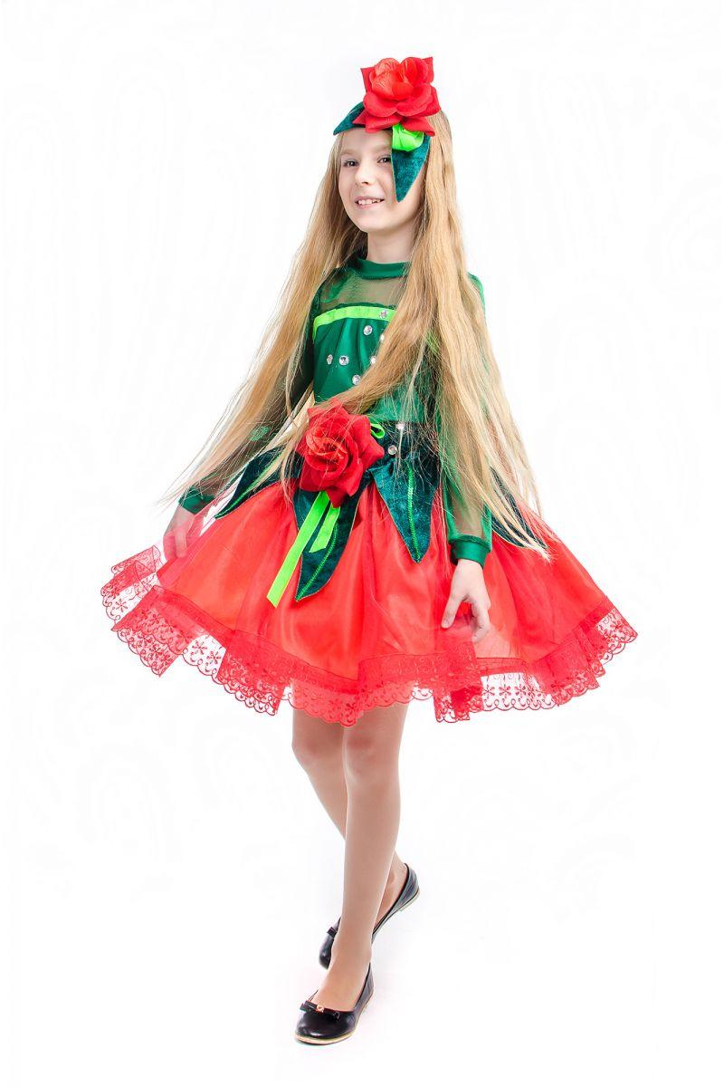 Масочка - «Розочка красная» карнавальный костюм для девочки / фото №2171