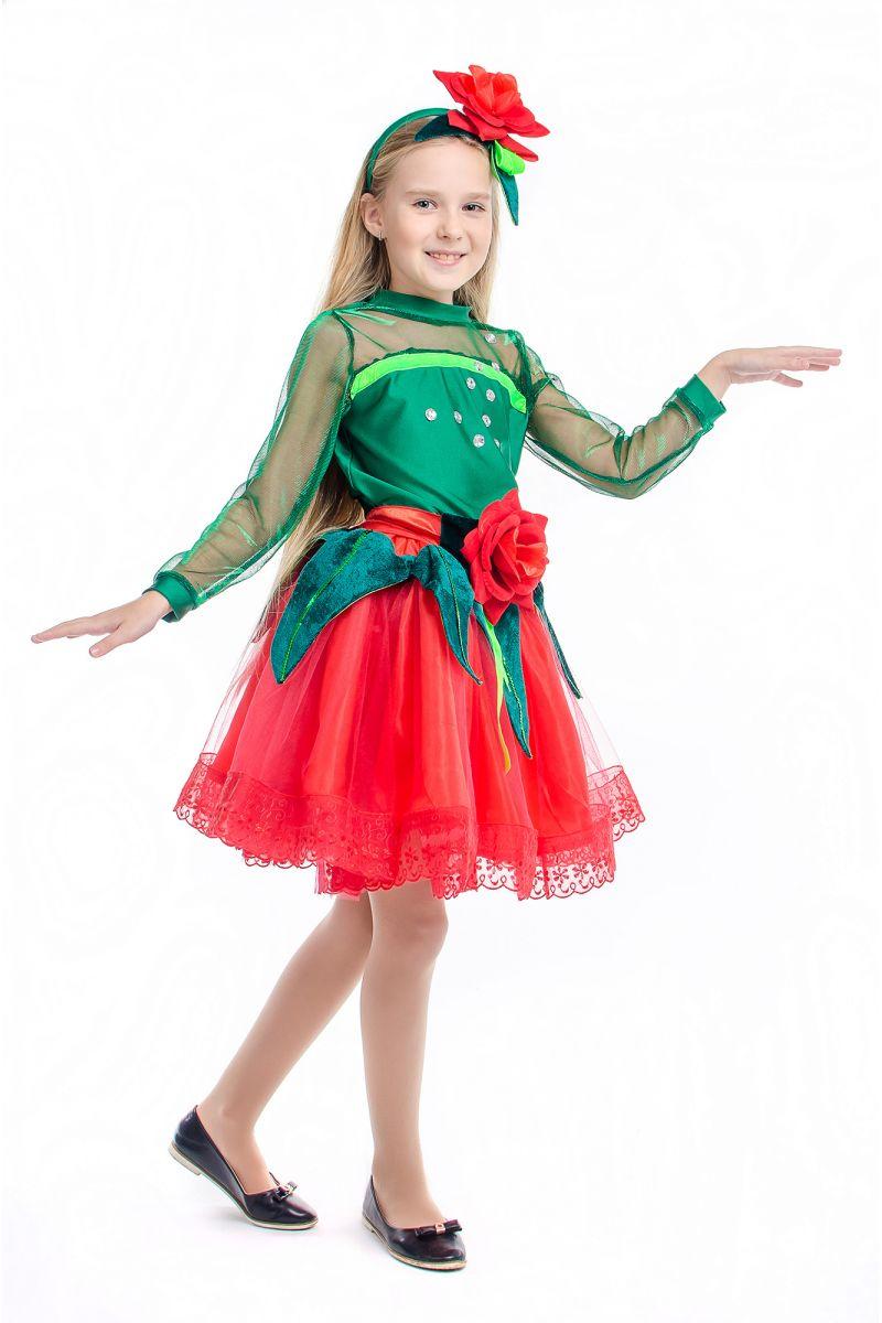 Масочка - «Розочка красная» карнавальный костюм для девочки / фото №2172