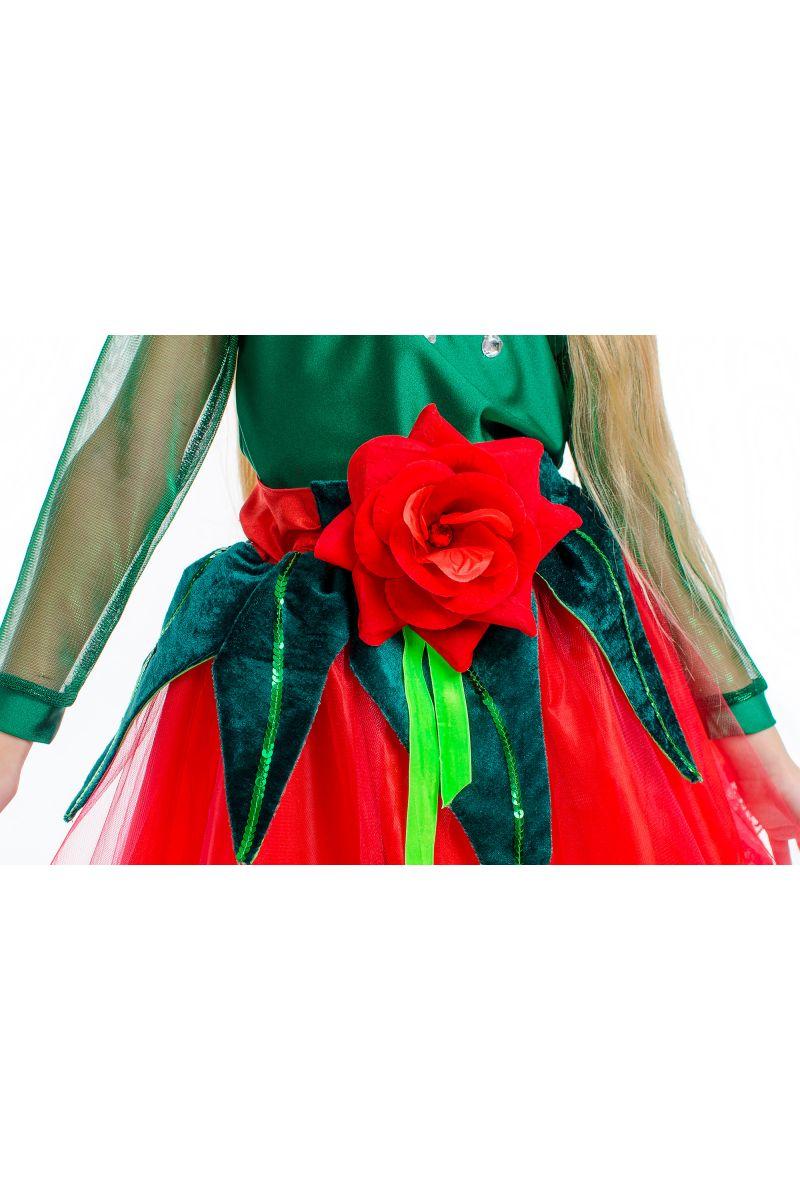 Масочка - «Розочка красная» карнавальный костюм для девочки / фото №2173