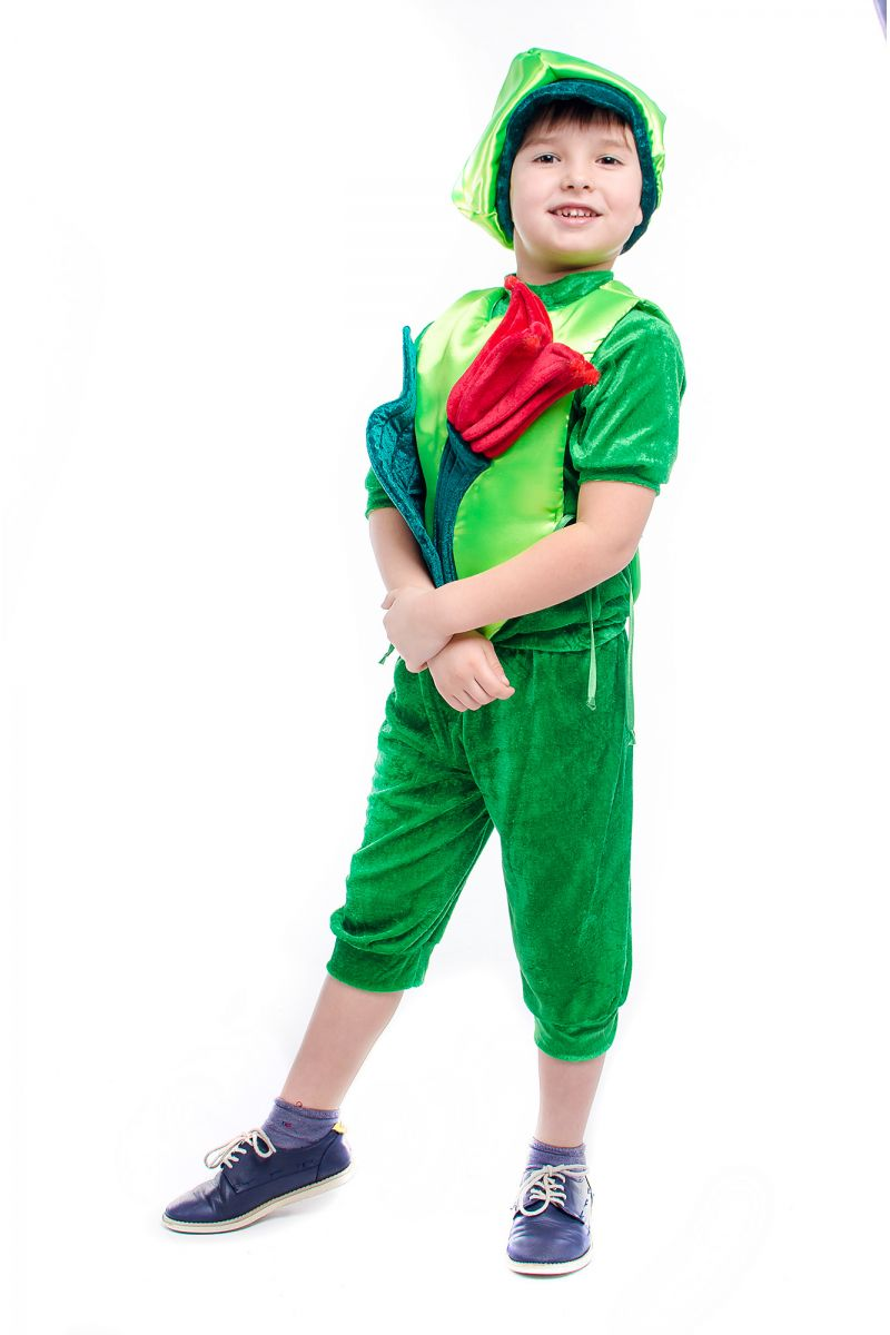 Масочка - «Тюльпан» карнавальный костюм для мальчика / фото №2177