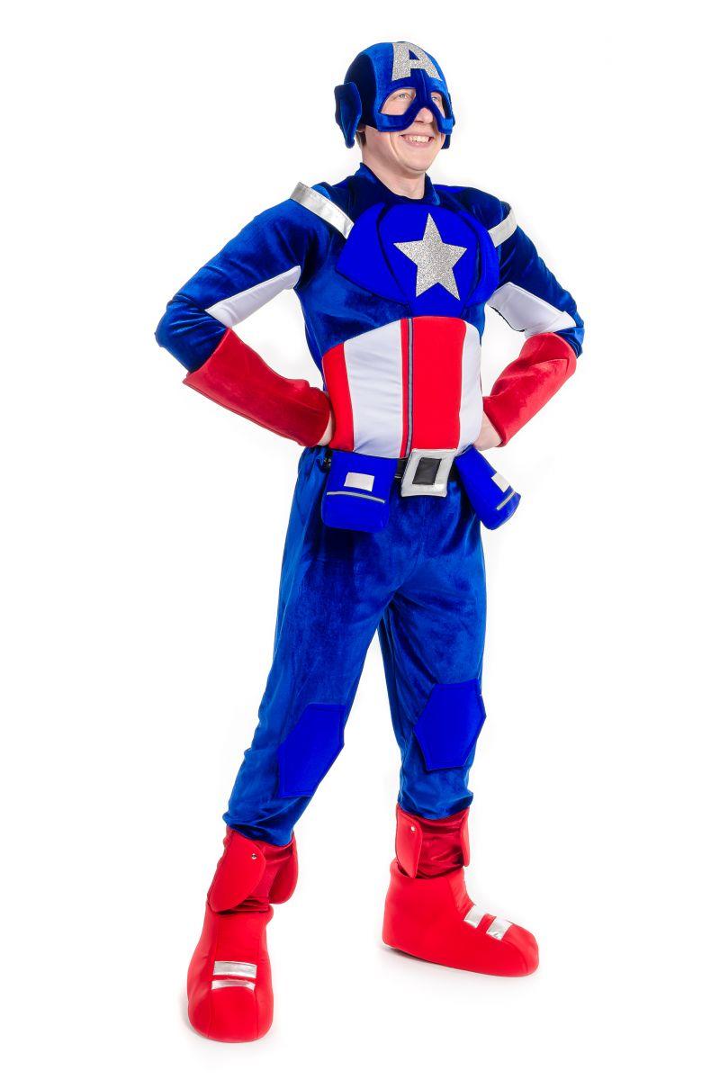 Масочка - Капитан Америка «Captain America» карнавальный костюм для взрослых / фото №2194