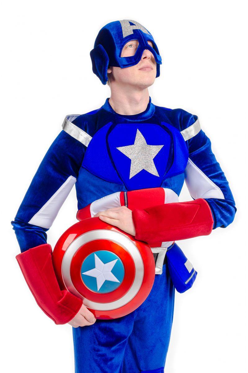 Масочка - Капитан Америка «Captain America» карнавальный костюм для взрослых / фото №2198