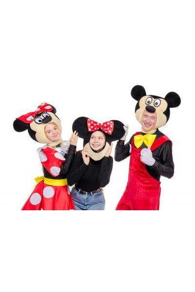 Маска для фотосессий «Микки и Минни Маус» реквизит для аниматоров