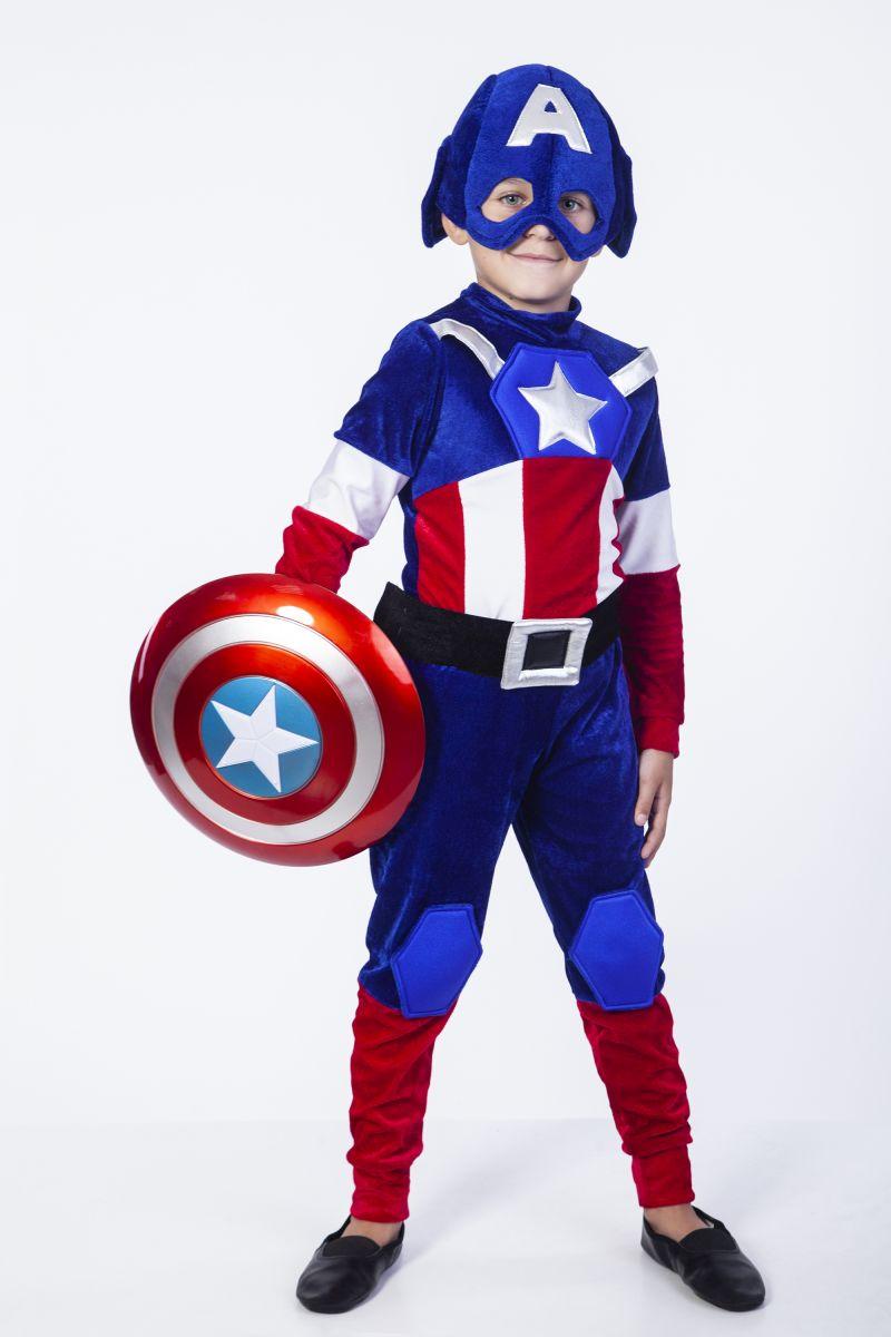 Масочка - Костюм «Капитан Америка» карнавальный костюм для мальчика / фото №2280