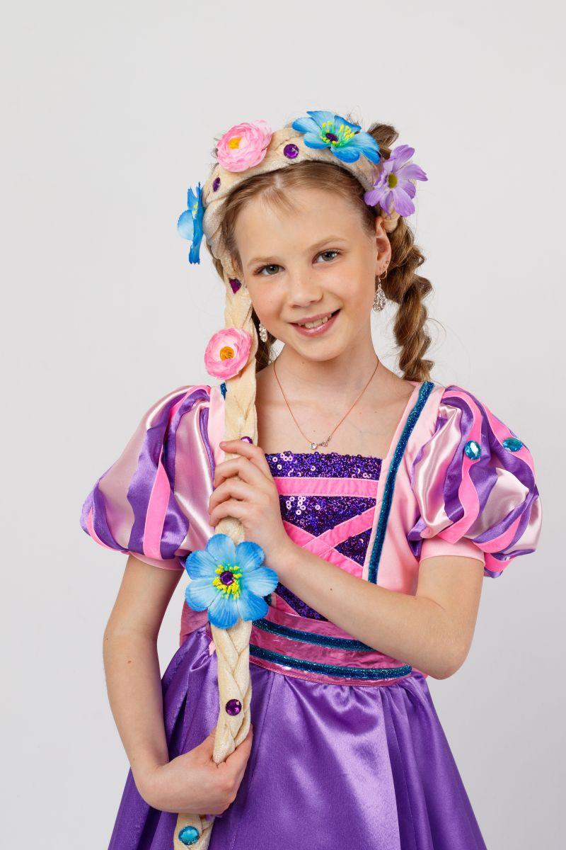 Масочка - Принцесса «Рапунцель» карнавальный костюм для девочки / фото №2311