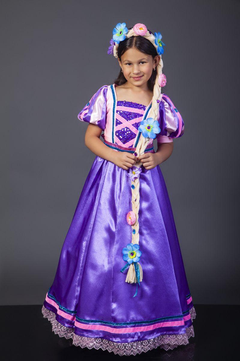 Масочка - Принцесса «Рапунцель» карнавальный костюм для девочки / фото №2312