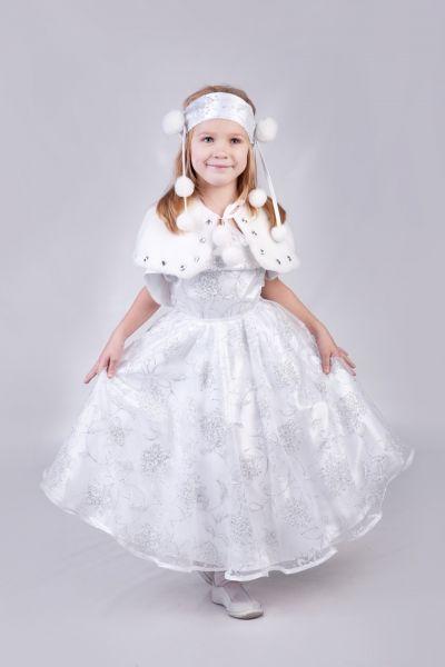 «Снежинка с бубончиками» карнавальный костюм для девочки