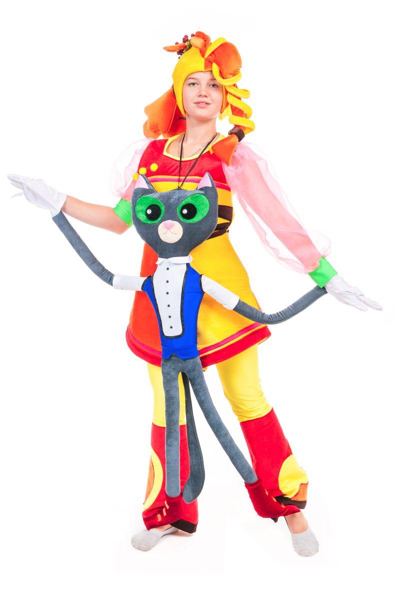 Масочка - Кукла марионетка «Кот Ученый» карнавальный реквизит для аниматора / фото №2433