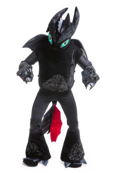 Дракон Беззубик «Ночная фурия» карнавальный костюм для аниматоров