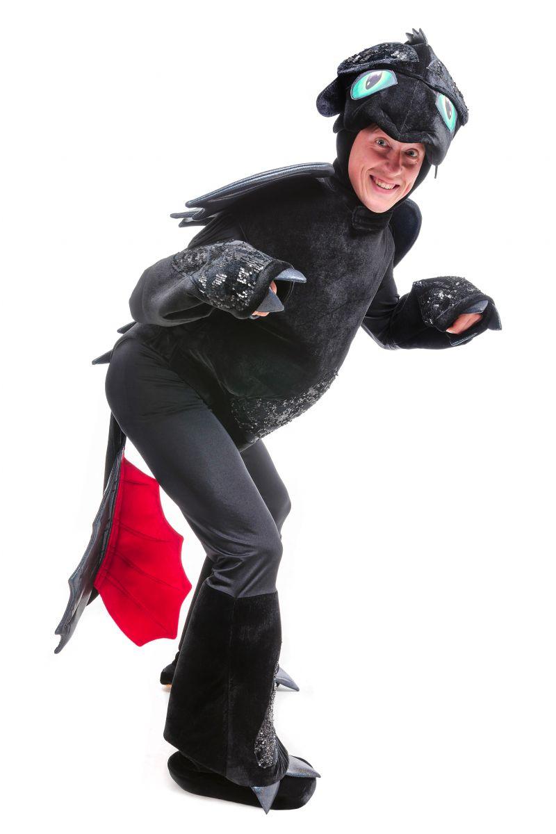 Масочка - Дракон Беззубик «Ночная фурия» карнавальный костюм для аниматоров / фото №2467