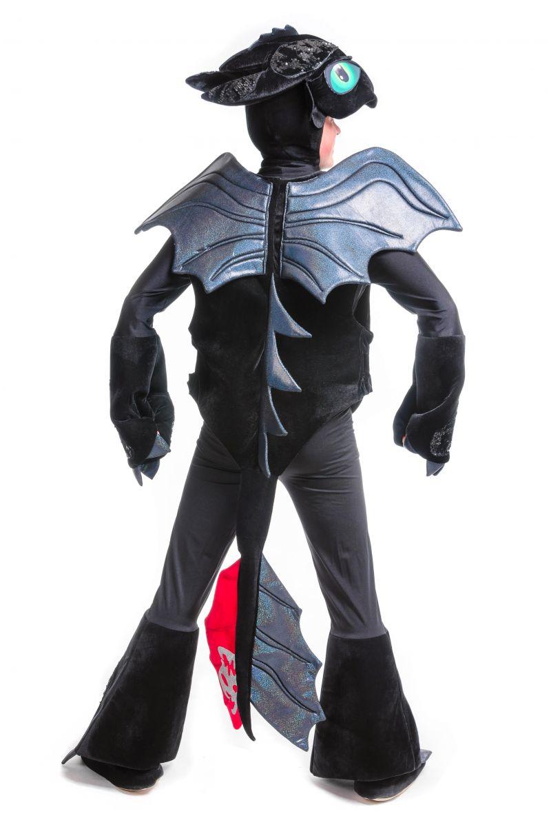 Масочка - Дракон Беззубик «Ночная фурия» карнавальный костюм для аниматоров / фото №2468