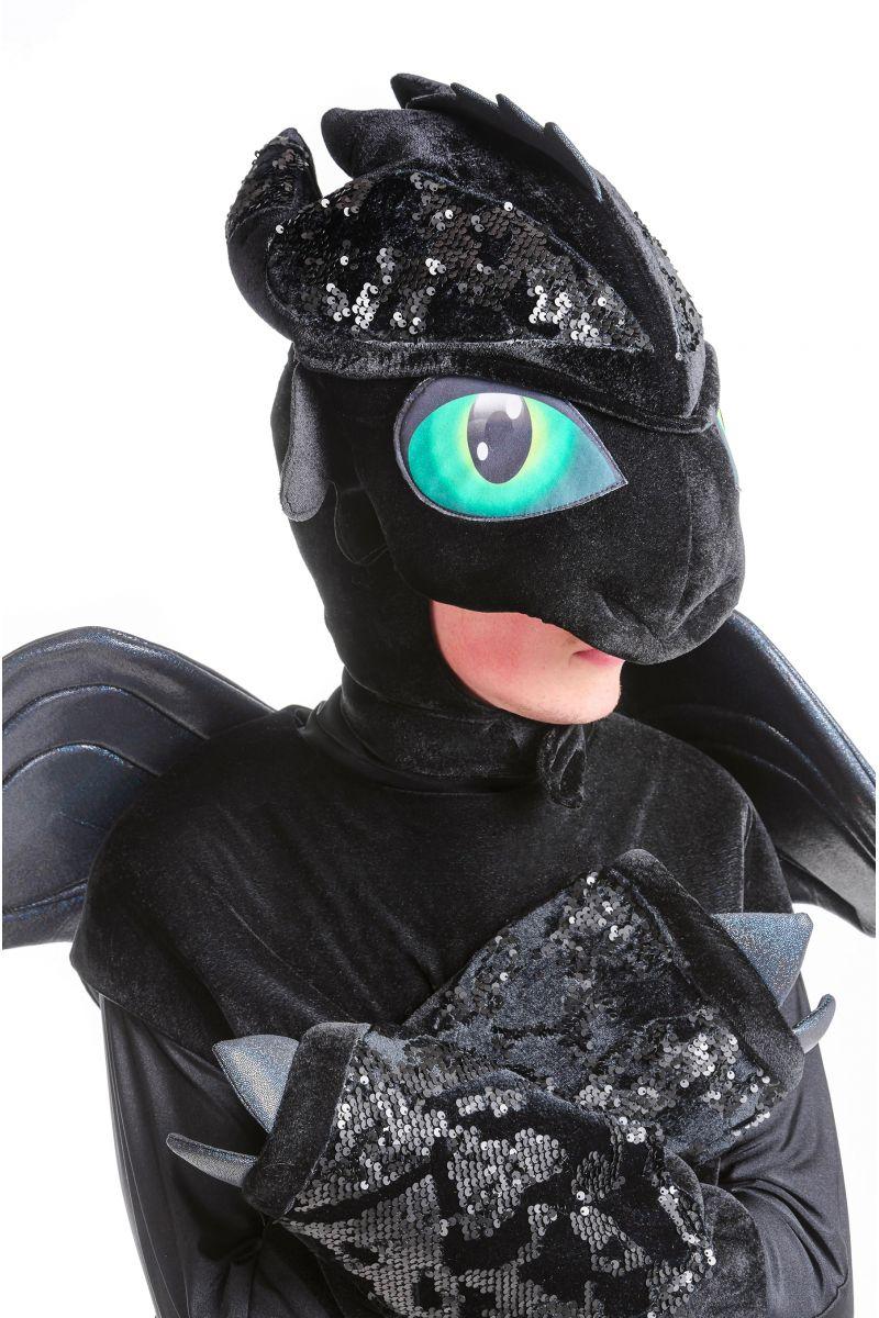 Масочка - Дракон Беззубик «Ночная фурия» карнавальный костюм для аниматоров / фото №2471