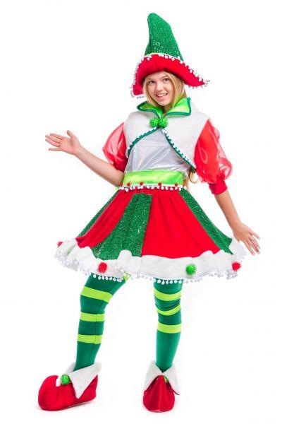 «Рождественский Эльфийка» карнавальный костюм для аниматора
