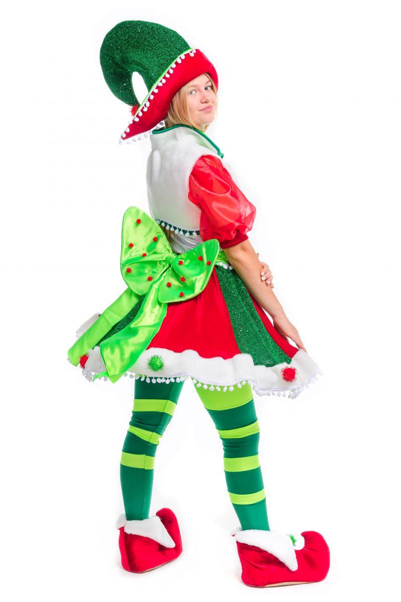 Масочка - «Рождественский Эльфийка» карнавальный костюм для аниматора / фото №2491