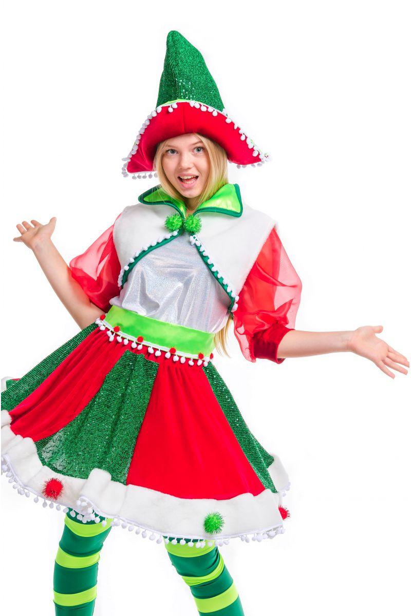Масочка - «Рождественский Эльфийка» карнавальный костюм для аниматора / фото №2499