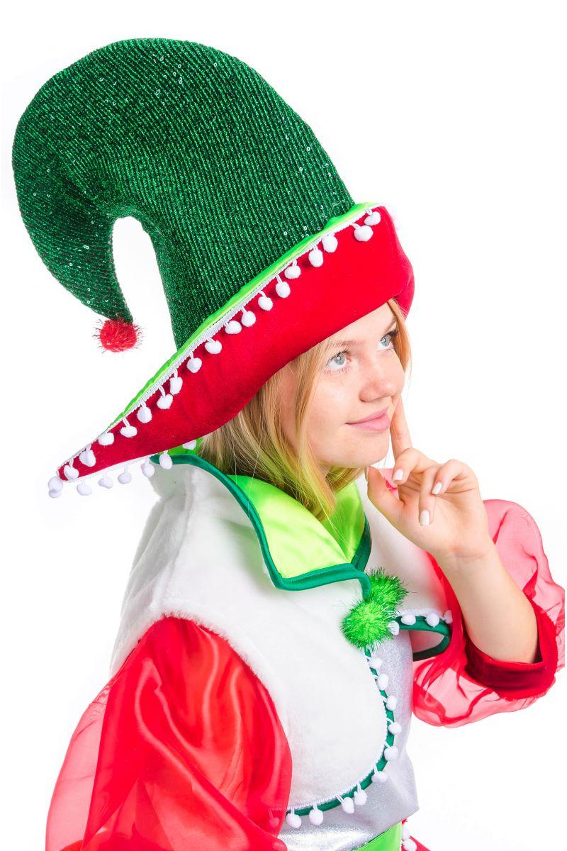 Масочка - «Рождественский Эльфийка» карнавальный костюм для аниматора / фото №2500