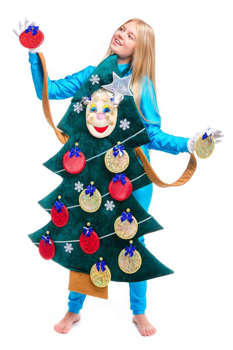 Масочка - «Новогодняя Ёлочка» карнавальный реквизит для аниматоров / фото №2501