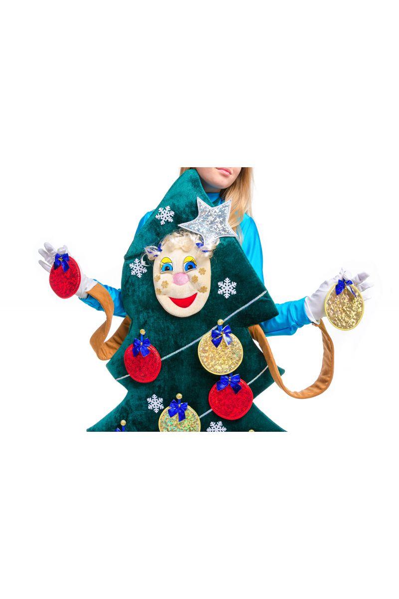 Масочка - «Новогодняя Ёлочка» карнавальный реквизит для аниматоров / фото №2503