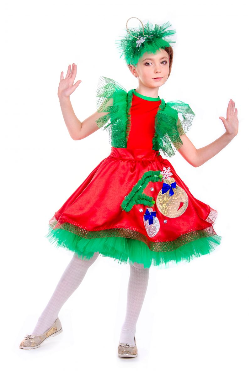 Масочка - «Елочная игрушка девочка» карнавальный костюм для девочки / фото №2552